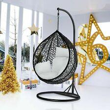 Modern Chair Egg Swing benche Garden Weave Hanging  Chair w/Cushion& Cover NEW U