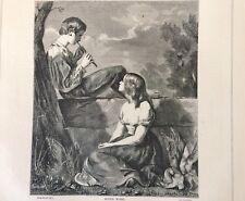 Rustic Music   xilografia  di J.Cooper  tratta da   the Art Journal  1858