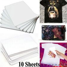 10Pcs New Cloth Light Fabric DIY Painting T-Shirt Iron-On Heat Transfer Paper