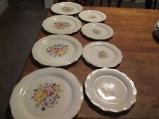 "Cunningham And Pickett Vintage lot of 8 -4 Plates 9 1/4"" 4 Plates 7 1/8"""