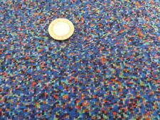 Liberty Silk Crepe 100%, 'Virtual Light' Blue (per metre) dress fabric, sewing