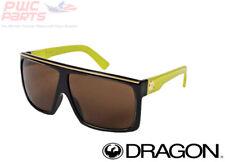 Dragon Alliance FAME Jet Acid Lime Yellow logo w Bronze Lens Sunglasses 720-2023