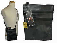 Ladies Genuine Soft Leather Travel Pouch Cross Body Shoulder Bag Pouch Bags R117