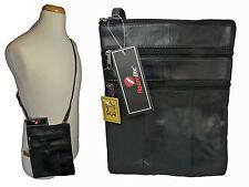 Señoras Suave Genuino Cuero Bolsa De Viaje Cross Body hombro bolsa Bolsas r117