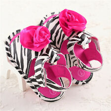 BABY GIRLS FLOWER SUMMER BEACH FLAT SANDALS PARTY RUFFLE PEEP TOE SHOES SIZE