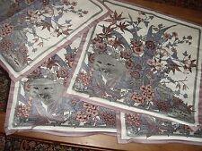 Brand New Set of Four Jim Thompson Cushion Covers Fox Plants Flowers Leaves
