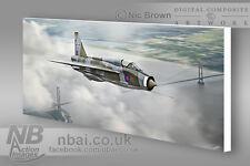 English Electric Lightning T5 LTF RAF Binbrook CANVAS PRINT, Digital Artwork.
