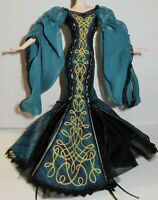 EVENING C ~ DRESS ~ BARBIE DOLL MODEL MUSE SORCHA GLOBAL GLAMOUR CORSET TIE GOWN