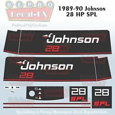 1989-90 Johnson 28 HP SPL Outboard Reproduction 11 Pc Marine Vinyl Decals
