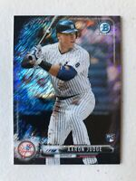 Aaron Judge 2017 Bowman Chrome Mini BLACK SHIMMER REFRACTOR RC #d 55/100 Yankees