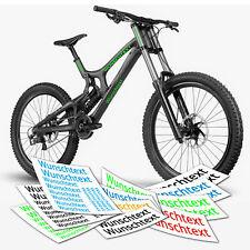 Aufkleber Wunschtext  Beschriftung Text  Rahmen Fahrrad | TOP Fahrradaufkleber
