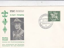 Germany 1961 Baden Powell 50th anniversary Boy Scouts Cover VGC Unaddressed