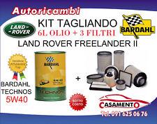KIT TAGLIANDO LAND ROVER FREELANDER II 3.2 171KW DAL 02/06 +6L OLIO BARDAHL 5W40