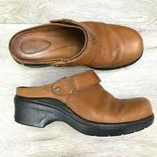Ariat Women's Cognac Leather Strap Slip On Clogs Mules 7.5