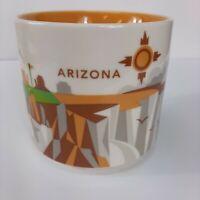 Starbucks Arizona You Are Here Coffee Cup Mug 2015 Stackable 14 Oz Cactus Golf