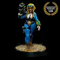 ⭐️Zombicid Painted Fallout Wasteland Warfare Board Game Vault Dweller Girl PinUp