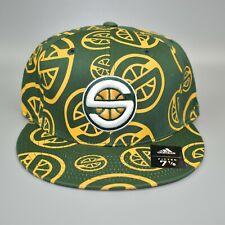 Seattle Sonics Supersonics adidas NBA Bravado Men's Fitted Cap Hat - Size: 7 1/8