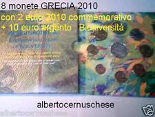 2010 9 monete 13,88 EURO Grecia greece grece Griechenland 10 € Biodiversità