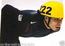 APOLO OHNO HAND SIGNED AUTOGRAPHED OLYMPIC RECORD HOLDER 11X14 PHOTO W/PROOF+COA