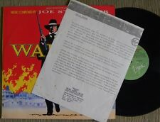JOE STRUMMER WALKER OST LP PROMOTIONAL BRAZIL 1988 WITH PRESS RELEASE ####