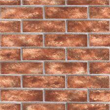 Brick Wallpaper Textured Red / Orange 44145