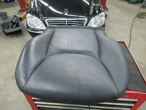 00-02 Mercedes W220 Black Leather Front Lower Seat Cover Right/Passenger W/ Pad