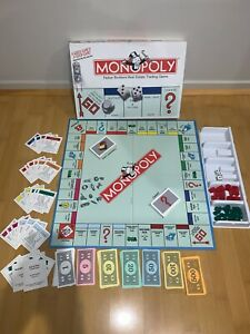 MONOPOLY Parker Brothers Hasbro game 1999 with metal tokens and money bag token