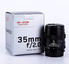 Mitakon Zhongyi Creator 35mm f/2 Full Frame Lens for Canon EF-Mount Camera 5D/6D