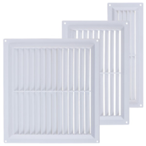 MAP BRAND Plastic Louvre Air Vent Cover White with Fly Mesh Used For Ventilation