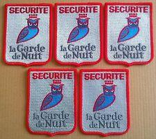 FRANCE: Lot de 5 écussons insignes sécurité neufs, chouettes, hiboux.