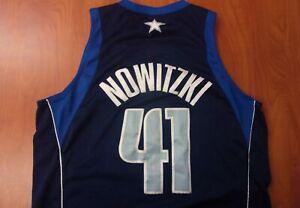 Vintage Rare Nike NBA Dallas Mavericks Dirk Nowitzki Swingman Stitched Jersey L