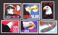 US 1983-1991 High Values set of 6 Eagles #1909/2542, Mint NH