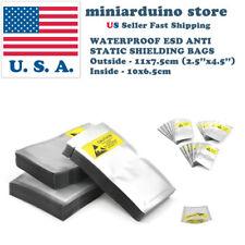 100pcs ESD Anti Static Shielding Bags 2.5''x 4.5'' 11*7cm Waterproof Electronics