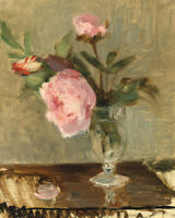 Peonies Berthe Morisot Fine Art Print on Canvas Painting Giclee Wall Decor Small