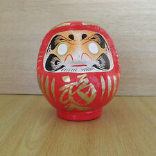 small Daruma Doll in Red color with a pen / Daruma at Takasaki : No 1 size