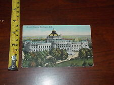 Postcard Rare Old Vintage Old Library Of Congress Washington Dc 1916