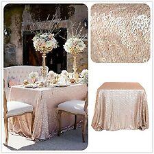 "Trlyc 48"" * 72"" gros sequins champagne brillant table nappe mariage glitz se..."