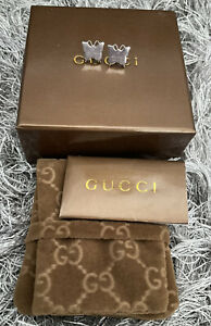 Beautiful Gucci Genuine Butterfly Stud earrings Sterling Silver Hallmarked Boxed