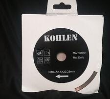 "KOHLEN 7"" Wet and Dry Cut Continuous Rim Diamond Saw Blade Tile Stone Masonry"