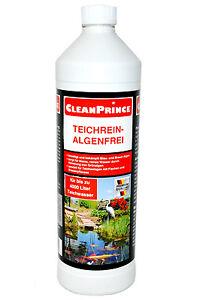 Teichreiniger Algenfrei 1 Liter Gartenteich m. Fischen Reiniger Reinigungsmittel