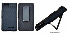 New Shell Holster Belt Clip Cover Case+Stand for Motorola Droid X MB810 X2 MB870