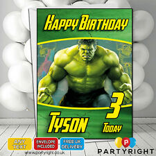 Personalised Hulk Kids Birthday / Greetings Card A5 • Any Name