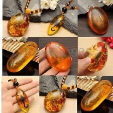 6 Types Resin Butterfly Amber Scorpion Crabs Ants Spider Insect Stone Pendant