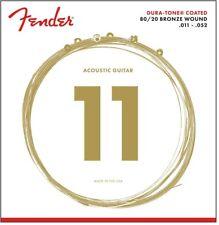 Fender 880CL Dura-Tone Coated 80/20 Bronze Strings 11-52 P/N 0730880003