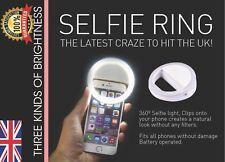 Selfie LED Light Ring Flash Fill Clip UK For Phone & Tablet iPhone