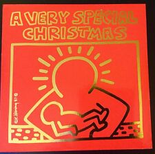KEITH HARING ART COVER - A VERY SPECIAL CHRISTMAS -ORIGINAL PRESSING - NEAR MINT