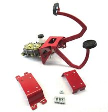 Universal Under-Floor Manual Brake / Hydraulic Clutch Assembly Red BPB-4001