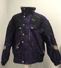 Men's Vintage Spyder Ski Jacket Large Thinsulate Purple Thick Snow Winter Coat