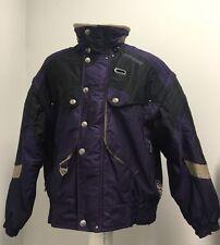 Men's Vintage Spyder Ski Jacket Large Thinsulate Purple Thick Snow Winter Coat