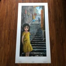 Walter Margaret Keane Lithograph Print GIRL OF CHINA Big Eyes Old 60's + FREE